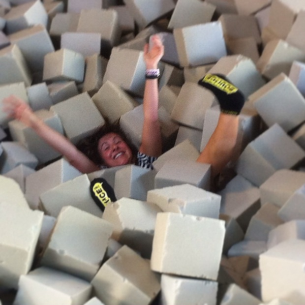 Guaranteed belly laughing activity = trying to get out of the foam pit.