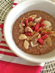 Flaxseed Porridge. Yes, you do have time to make it.