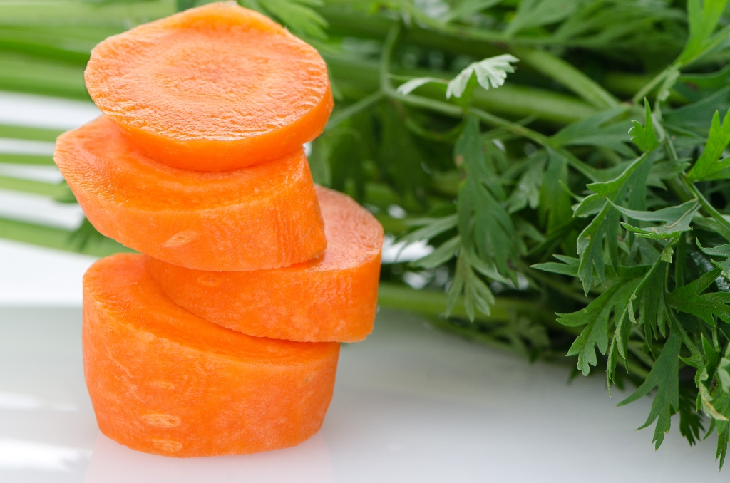 Pile of carrot slices