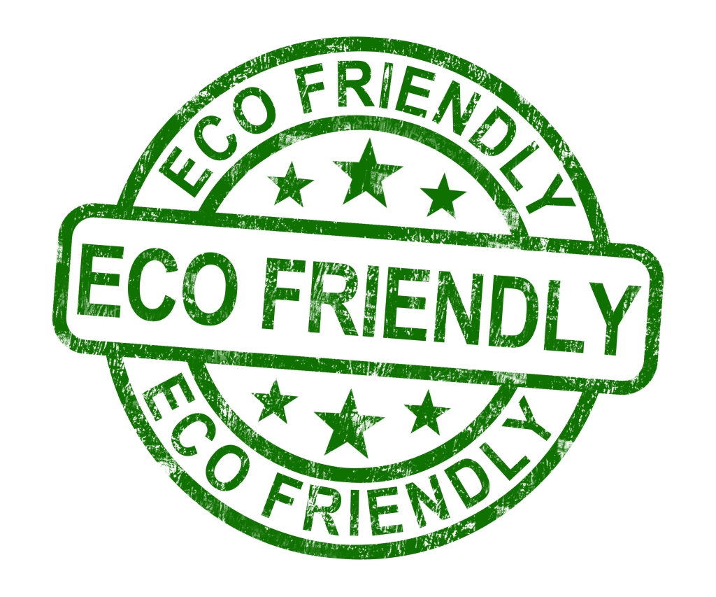 Eco Friendly Stamp As Symbol For  Recycling